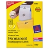 "Avery Round Print-to-the-Edge Permanent Labels, 1 2/3"" dia, Glossy Clear, 500/Pack"