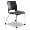 Motivate Seating Upholstered 4-Leg Stacking Chair,Regatta/Cerulean/Platinum,2/CT