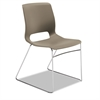 Motivate Seating High-Density Stacking Chair, Shadow/Chrome, 4/Carton