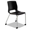 Motivate Seating 4-Leg Stacking Chair, Onyx/Platinum, 2/Carton