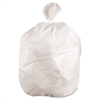 Waste Can Liners, 60gal, 38x 58, .6mil, White, 25 Bags/Roll, 4 Rolls/CT