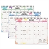 Watercolors Recycled Monthly Wall Calendar, 15 x 12, 2017
