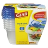 Glad GladWare Soup and Salad Food Storage Containers 24 oz, 5/Pack