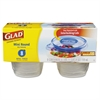 Glad GladWare Mini Round Food Storage Containers, 4 oz,  8/Pk, 12 Pk/Ctn
