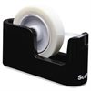 "Scotch Heavy Duty Weighted Desktop Tape Dispenser, 3"" core, Plastic, Black"