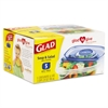 Glad GladWare Soup and Salad Food Storage Containers, 24 oz., 5/Pk, 6 Pks/Ctn
