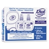 Dial Professional Duo Antibacterial Hand Wash Dispenser Kit, 7 1/4 x 3 7/8 x 11 3/4, 1250mL, Smoke