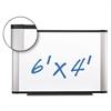 3M Porcelain Dry Erase Board, 72 x 48, Widescreen Aluminum Frame