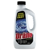 Drano Liquid Drain Cleaner, 32oz Safety Cap Bottle, 12/Carton