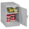 "Tennsco 30"" High Single Door Cabinet, 19w x 24d x 30h, Light Gray"