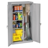 Tennsco Janitorial Cabinet, 36w x 18d x 64h, Light Gray