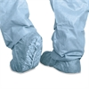 Medline Polypropylene Non-Skid Shoe Covers, Large, Blue, 100/Box