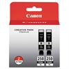 Canon 6432B004 (PGI-250XL) ChromaLife100+ High-Yield Ink, Black, 2/PK