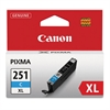 6449B001 (CLI-251XL) ChromaLife100+ High-Yield Ink, Cyan