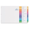 Avery Ready Index Customizable Table of Contents Multicolor Dividers, 12-Tab, 11 x 17