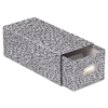 Reinforced Board Card File, Pull Drawer, Holds 1,500 4 x 6 Cards, Black/White