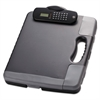 Officemate Portable Storage Clipboard Case w/Calculator, 11 3/4 x 14 1/2, Charcoal