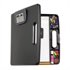 Officemate Portable Storage Clipboard Case w/Calculator, 12w x 13 1/10h, Charcoal