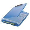 "Officemate Low Profile Storage Clipboard, 1/2"" Capacity, Holds 8 1/2 x 11, Translucent Blue"