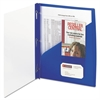 Clear Front Poly Report Cover With Tang Fasteners, 8-1/2 x 11, Blue, 5/Pack