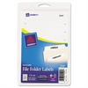 Avery Removable 1/3-Cut File Folder Labels, Inkjet/Laser, .66 x 3.44, White, 252/PK