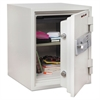 FireKing Two Hour Fire and Water Safe, 1.48 ft3, 18-1/5 x 18-1/3 x 21-3/4, White