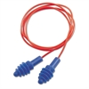 Howard Leight by Honeywell DPAS-30R AirSoft Multiple-Use Earplugs, 27NRR, Red Polycord, Blue, 100/Box
