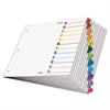 OneStep Printable Table of Contents Dividers, 12-Tab, 11 x 17, Multicolor Tabs