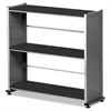 Eastwinds Accent Shelving, Three-Shelf, 31-1/4w x 11d x 31h, Anthracite