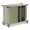 Laptop Cart, 50-1/2w x 26-1/2d x 40h, Gray Matrix/Sand