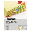 Gold Pro Insertable Tab Index, Multicolor 8-Tab, Letter, Buff Sheets