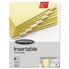 Gold Pro Insertable Tab Index, Clear 8-Tab, Letter, Buff Sheets