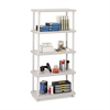 Rough N Ready Five-Shelf Open Storage System, Resin, 36w x 18d x 74h, Platinum