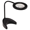 Ledu 5.4W Flex-Reach Domed LED Desk Task Lamp, 6-1/10w x 20h, Black
