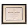 Document Frame, Black Plastic, 11 x 14, 8 1/2 x 11