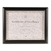 DAX Document Frame, Black Plastic, 8 1/2 x 11
