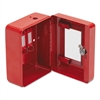 FireKing Hercules Emergency Safe, Steel, 0.05 ft3, 4-3/4w x 6d x 3h, Red