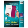 Avery Index Maker Print & Apply Clear Label Dividers w/Clear Pockets, 5-Tab, Letter