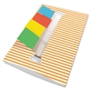 Redi-Tag Orange Stripe Designer Pop-Up Page Flag Dispenser, 4 Pads of 35 Flags Each