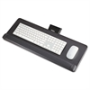 Safco Knob-Adjust Keyboard Platform, 25w x 9-1/2d, Black