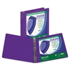 "Samsill Clean Touch Round Ring View Binder, Antimicrobial, 4"", Purple"