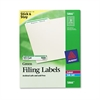 Avery Permanent File Folder Labels, TrueBlock, Inkjet/Laser, Green Border, 1500/Box