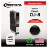 Innovera Remanufactured 0620B002 (CLI8BK) Ink, Black
