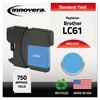Innovera Remanufactured LC61C Ink, Cyan