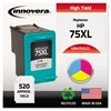 Remanufactured CB338WN (75XL) High-Yield Ink, Tri-Color