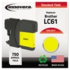 Innovera Remanufactured LC61Y Ink, Yellow
