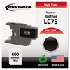 Remanufactured LC75BK High-Yield Ink, Black