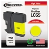 Remanufactured LC65Y High-Yield Ink, Yellow