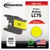 Innovera Remanufactured LC75Y High-Yield Ink, Yellow