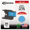 Remanufactured LC75C High-Yield Ink, Cyan
